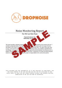 Dropnoise Noise Monitoring Sample Report